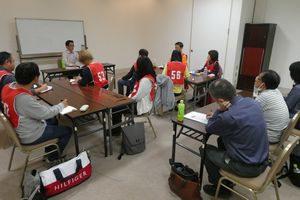 熊本で開催したペット災害危機管理士(R)1級でペット同行避難の支援を行なっていた団体代表の講話を聴講する受講生たち