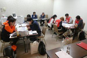 熊本で開催したペット災害危機管理士(R)1級でグループワークに取り組む受講生たち