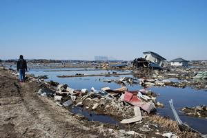 震災直後の石巻市2011年3月